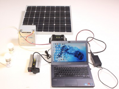 Solar Powered Laptop System