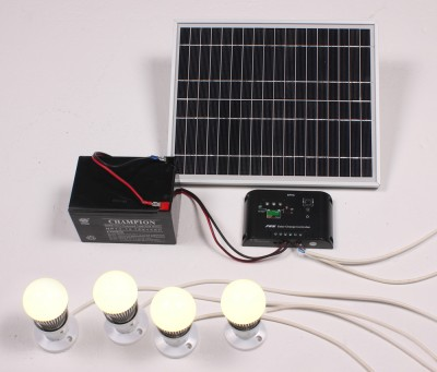 Solar Powered Room Lighting System