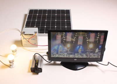 Solar Powered TV System